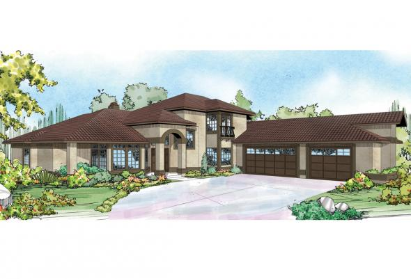 Mediterranean House Plan - Pasadena 11-140 - Front Elevation