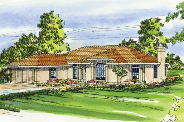 Mediterranean House Plan - Plainview 11-079 - Front Elevation