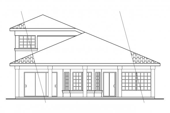 Narrow Lot House Plan - Cortez 11-011 - Front Elevation
