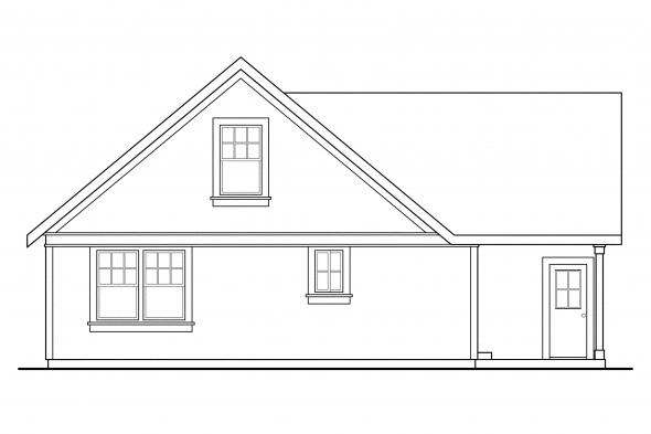 Narrow Lot House Plan - Danville 30-284 - Rear Elevation