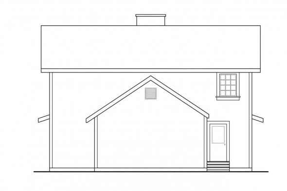 Narrow Lot House Plan - Eldora 41-005 - Rear Elevation