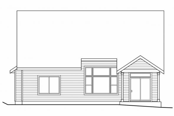 Narrow Lot House Plan - Elkhorn 30-733 - Rear Elevation