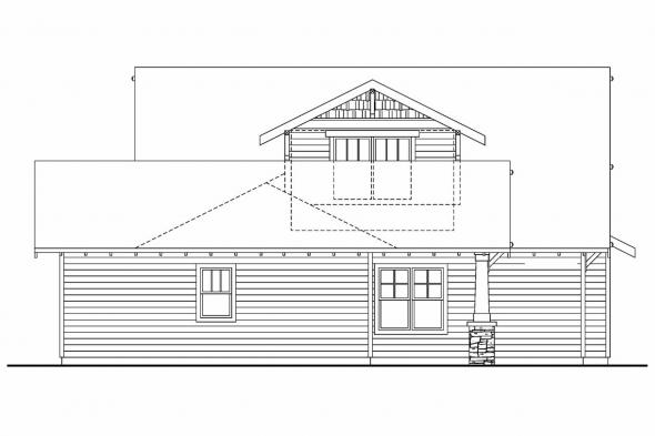 Narrow Lot House Plan - Fairfield 30-583 - Rear Elevation