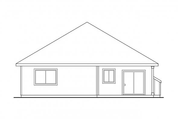 Narrow Lot House Plan - Lorella 30-154 - Rear Elevation