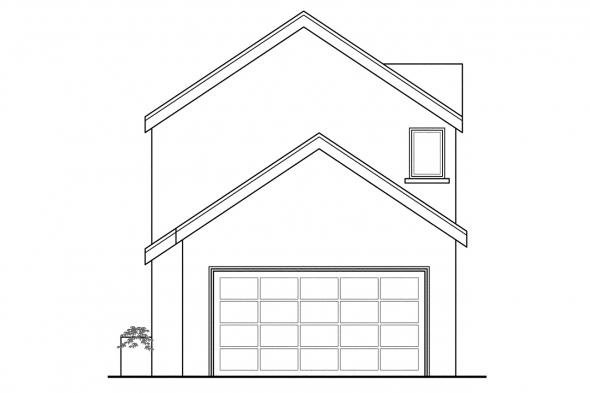 Narrow Lot House Plan - Montrose 30-823 - Rear Elevation