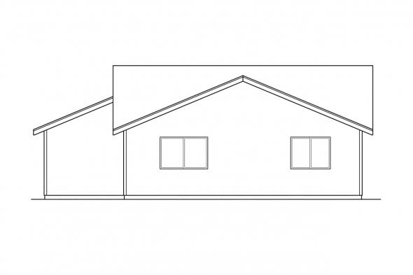 Narrow Lot House Plan - Waverly 30-087 - Rear Elevation