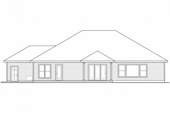 Prairie Style House Plan - Ambrose 30-736 - Rear Elevation