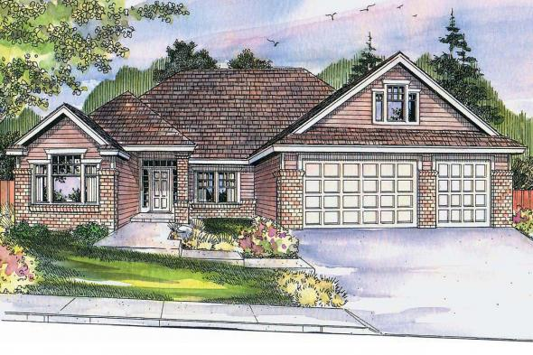 Prairie Style House Plan - Cheyenne 30-643 - Front Elevation