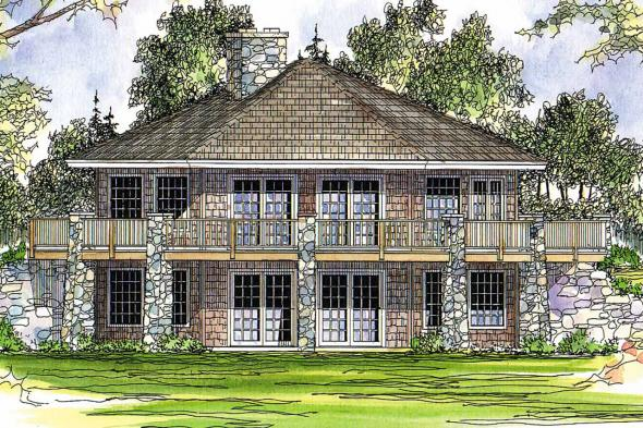 Prairie Style House Plan - Grandview 10-249 - Rear Elevation