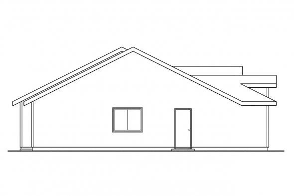 Ranch House Plan - Ackerman 60-011 - Left Elevation
