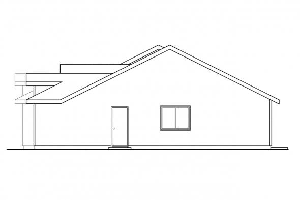 Ranch House Plan - Ackerman 60-011 - Right Elevation