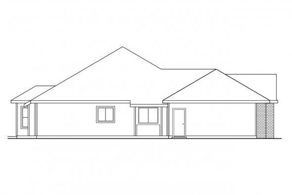 Ranch House Plan - Anniston 10-304 - Left Elevation