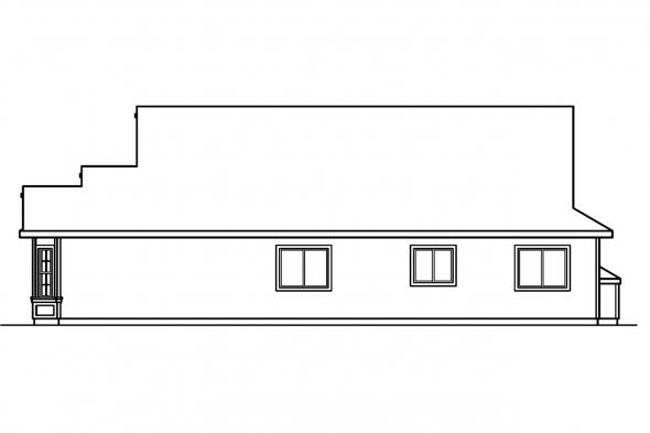 Ranch House Plan - Ashland 30-191 - Right Elevation