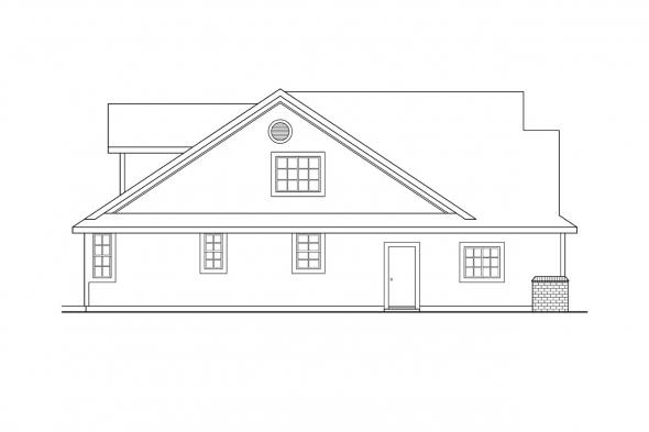 Ranch House Plan - Brillion 30-167 - Left Elevation
