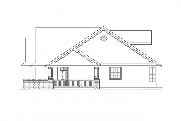 Ranch House Plan - Brillion 30-167 - Right Elevation