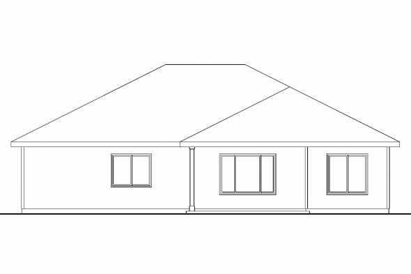 Ranch House Plan - Camas 30-711 - Rear Elevation