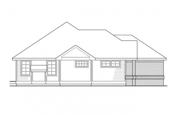 Ranch House Plan - Camden 30-051 - Left Elevation