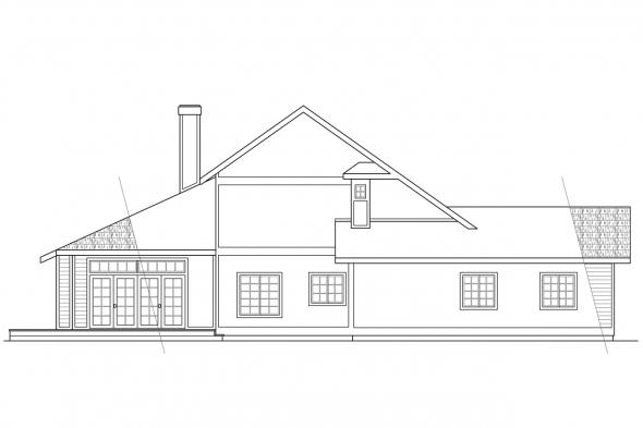 Ranch House Plan - Candelaria 10-014 - Left Elevation