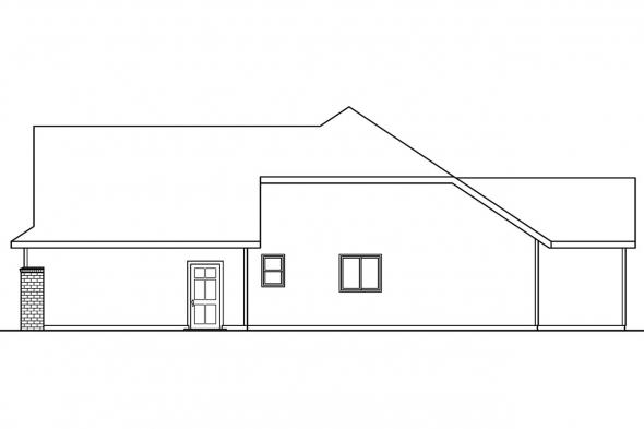 Ranch House Plan - Cheyenne 30-643 - Right Elevation