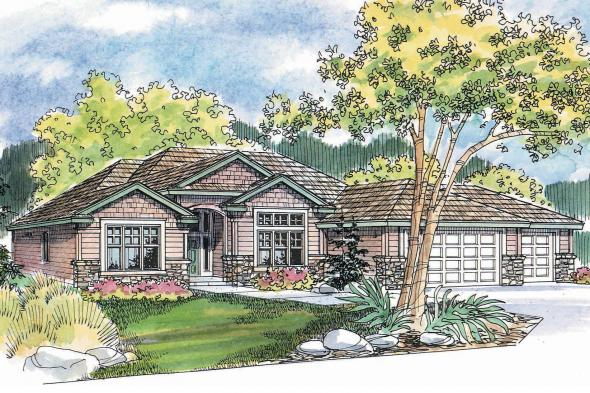 Ranch House Plan - Clearfield 30-318 - Front Elevation