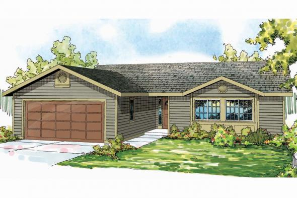 Ranch House Plan - Copperfield 30-801 - Front Elevation