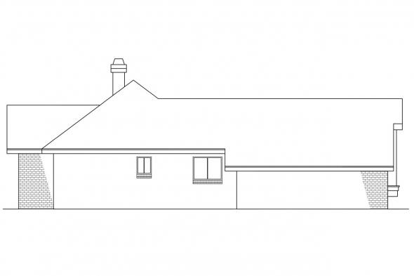 Ranch House Plan - Danbury 10-036 - Left Elevation