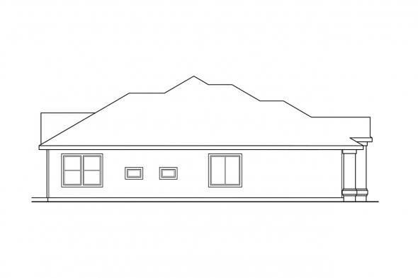 Ranch House Plan - Dawson 30-140 - Left Elevation