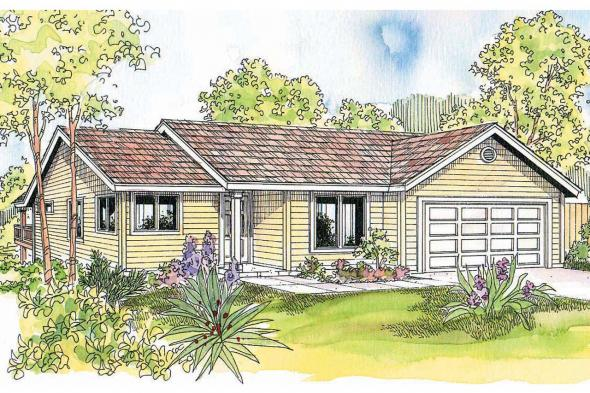 Ranch House Plan - Dexter 30-547 - Front Elevation