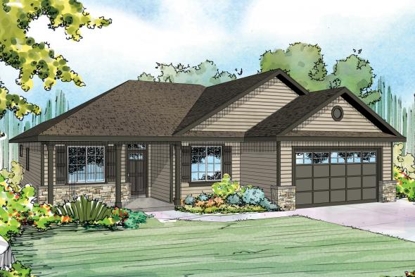 Ranch House Plan - Eastford 30-925 - Front Elevation