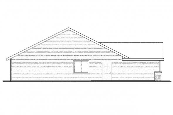 Ranch House Plan - Easthaven 30-778 - Left Elevation