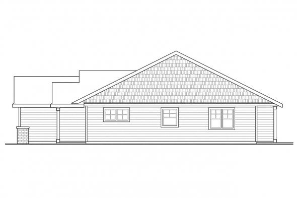 Ranch House Plan - Easthaven 30-778 - Right Elevation