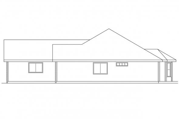 Ranch House Plan - Eldon 30-076 - Right Elevation