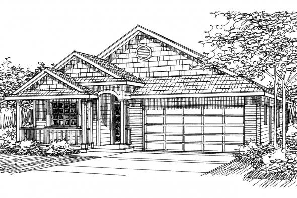Ranch House Plan - Emmett 30-234 - Front Elevation