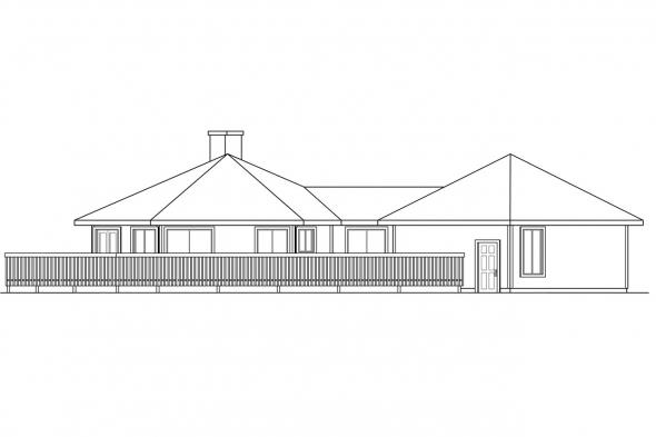 Ranch House Plan - Encino 10-016 - Left Elevation