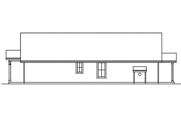 Ranch House Plan - Evelyn 30-480 - Right Elevation