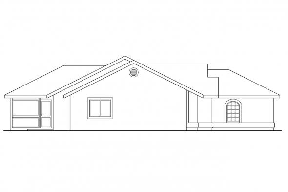 Ranch House Plan - Florosa 11-090 - Left Elevation