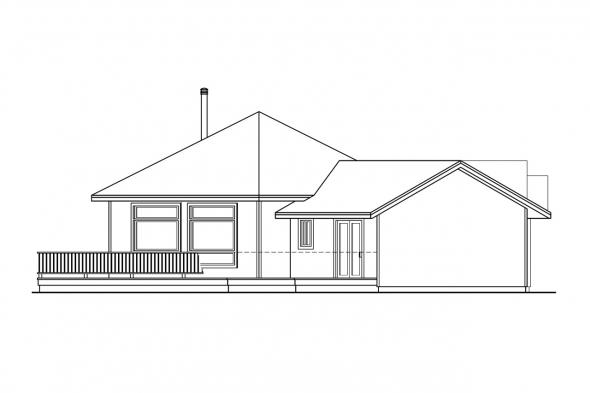 Ranch House Plan - Forsythia 10-426 - Left Elevation