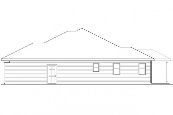 Ranch House Plan - Glenhaven 30-927 - Right Elevation