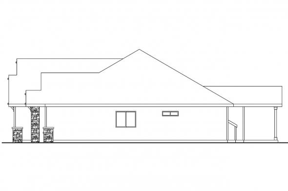 Ranch House Plan - Goldendale 30-540 - Right Elevation