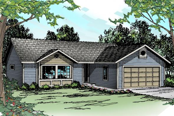 Ranch House Plan - Halsey 30-847 - Front Elevation
