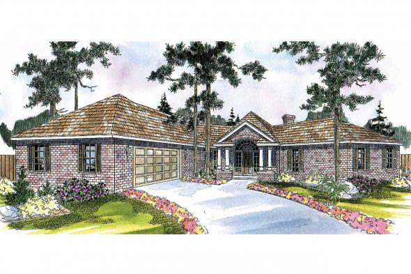 Ranch House Plan - Hamilton 10-446 - Front Elevation