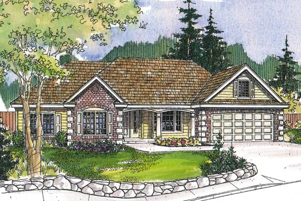 Ranch House Plan - Hampshire 30-799 - Front Elevation