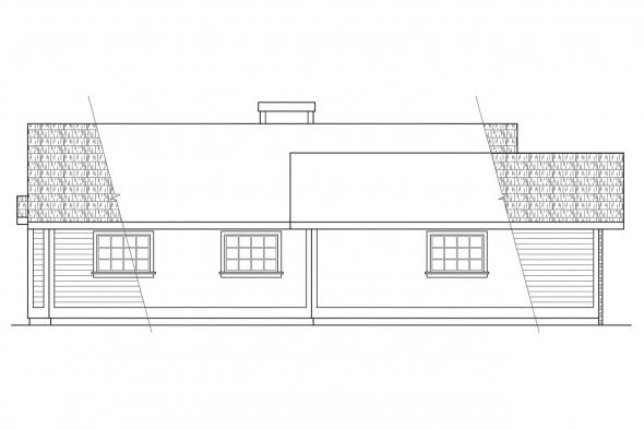 Ranch House Plan - Hampton 10-028 - Left Elevation