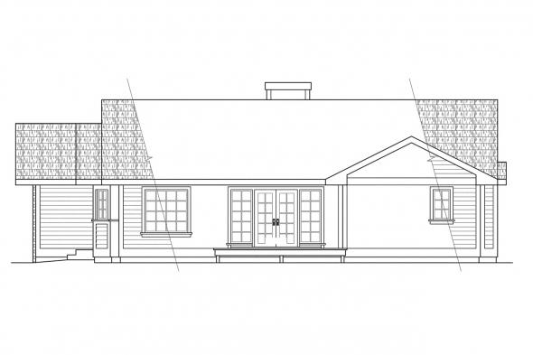 Ranch House Plan - Hampton 10-028 - Right Elevation