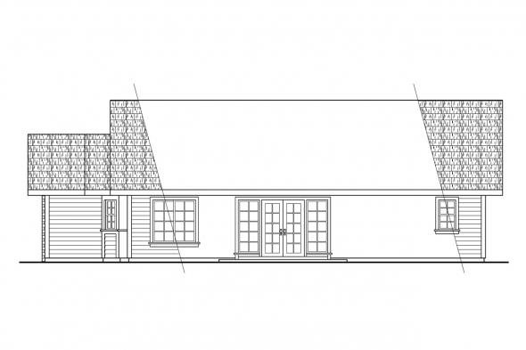 Ranch House Plan - Harney 10-223 - Right Elevation