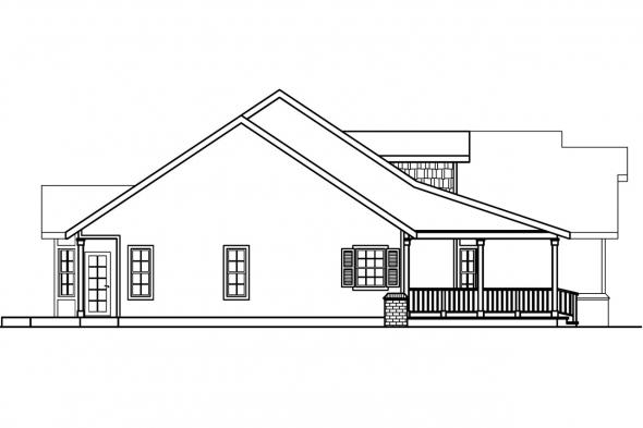 Ranch House Plan - Hillrose 30-269 - Left Elevation