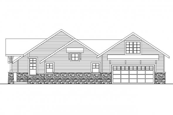 Ranch House Plan - Inglewood 30-538 - Right Elevation