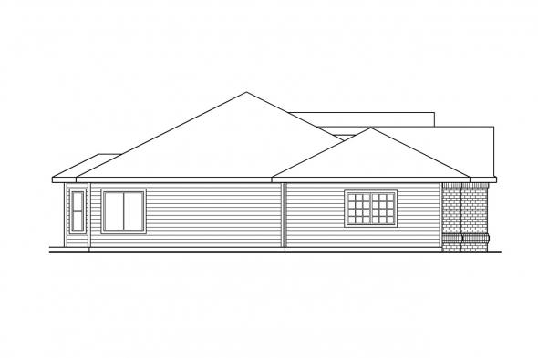 Ranch House Plan - Kincaid 30-147 - Left Elevation