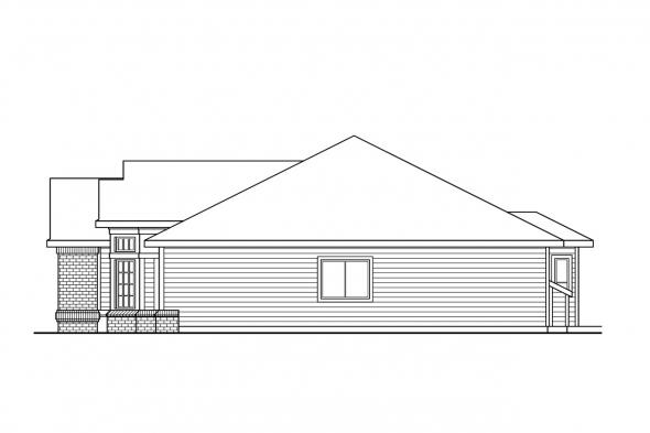 Ranch House Plan - Kincaid 30-147 - Right Elevation
