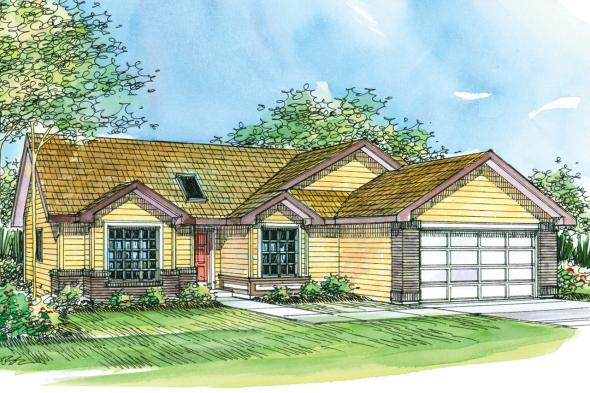 Ranch House Plan - Lamont 30-235 - Front Elevation